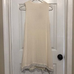 Cream colored light weight dress